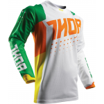 Thor Cross Shirt 2017 Pulse Air Cactus - Jeugd - Groen / Oranje