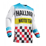 Thor Cross Shirt 2019 Pulse Hallman Heather - Wit / Blauw