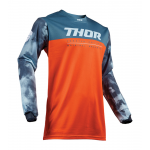 Thor Kinder Cross Shirt 2019 Pulse Air Acid - Rood Oranje / Slate