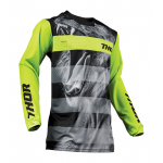 Thor Kinder Cross Shirt 2019 Pulse Savage Big Cat - Zwart / Lime