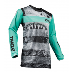 Thor Kinder Cross Shirt 2019 Pulse Savage Jaws - Mint / Zwart