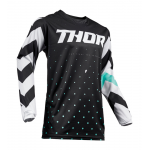 Thor Kinder Cross Shirt 2019 Pulse Stunner - Zwart / Wit