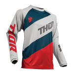 Thor Kinder Cross Shirt 2019 Sector Shear - Licht Grijs / Rood