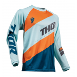Thor Kinder Cross Shirt 2019 Sector Shear - Sky / Slate