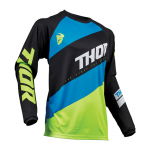 Thor Kinder Cross Shirt 2019 Sector Shear - Zwart / Acid