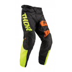 Thor Kinder Crossbroek 2019 Pulse Savage Big Cat - Zwart / Lime