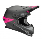 Thor Kinder Crosshelm 2019 Sector Hype - Charcoal / Roze