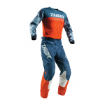 Thor Kinder Crosskleding 2019 Pulse Air Acid - Rood Oranje / Slate