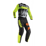 Thor Kinder Crosskleding 2019 Pulse Savage Big Cat - Zwart / Lime