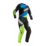 Thor Kinder Crosskleding 2019 Sector Shear - Zwart / Acid