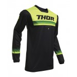 Thor Kinder Cross Shirt 2020 Pulse Air Pinner - Zwart / Acid