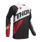 Thor Kinder Cross Shirt 2020 Sector Blade - Charcoal / Red