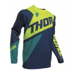 Thor Kinder Cross Shirt 2020 Sector Blade - Navy / Acid