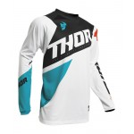 Thor Kinder Cross Shirt 2020 Sector Blade - Wit / Aqua