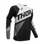 Thor Kinder Cross Shirt 2020 Sector Blade - Zwart / Wit