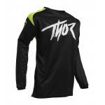 Thor Kinder Cross Shirt 2020 Sector Link - Acid / Zwart