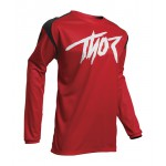 Thor Kinder Cross Shirt 2020 Sector Link - Rood / Zwart