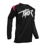 Thor Kinder Cross Shirt 2020 Sector Link - Roze / Zwart
