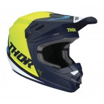 Thor Kinder Crosshelm 2020 Sector Blade - Navy / Acid
