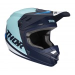 Thor Kinder Crosshelm 2020 Sector Blade - Navy / Blauw