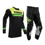 Thor Kinder Crosskleding 2020 Pulse Air Pinner - Zwart / Acid