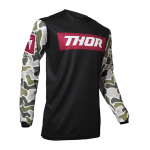 Thor Cross Shirt 2020 Pulse Fire - Zwart / Maroon