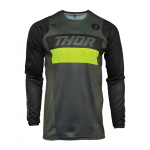 Thor Cross Shirt 2021 Pulse Racer - Leger Groen / Acid