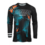 Thor Cross Shirt 2021 Pulse Tropix - Zwart / Wit