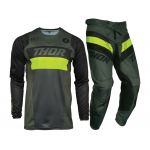Thor Crosskleding 2021 Pulse Racer - Leger Groen / Acid