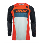 Thor Kinder Cross Shirt 2021 Pulse Racer - Oranje / Midnight