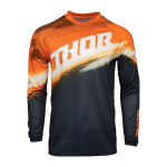 Thor Kinder Cross Shirt 2021 Sector Vaper - Oranje / Midnight