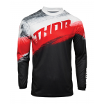 Thor Kinder Cross Shirt 2021 Sector Vaper - Rood / Zwart