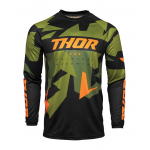 Thor Kinder Cross Shirt 2021 Sector Warship - Groen / Oranje