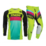 Thor Kinder Crosskleding 2021 Pulse Racer - Acid / Zwart