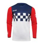 Thor Cross Shirt 2022 Hallman Differ Cheq - Wit / Rood / Blauw