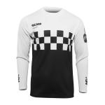 Thor Cross Shirt 2022 Hallman Differ Cheq - Zwart / Wit