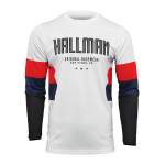 Thor Cross Shirt 2022 Hallman Differ Draft - Wit / Rood / Navy