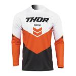 Thor Cross Shirt 2022 Sector Chev - Charcoal / Rood Oranje