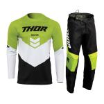 Thor Crosskleding 2022 Sector Chev - Zwart / Groen