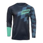 Thor Kinder Cross Shirt 2022 Sector Birdrock - Midnight / Mint