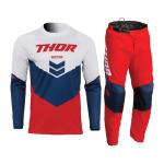 Thor Kinder Crosskleding 2022 Sector Chev - Rood / Navy