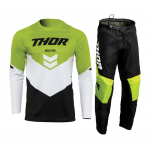 Thor Kinder Crosskleding 2022 Sector Chev - Zwart / Groen
