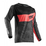 Thor Cross Shirt 2018 Fuse High Tide - Zwart / Coral