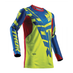 Thor Cross Shirt 2018 Prime Fit Paradigm - Lime / Blauw / Rood