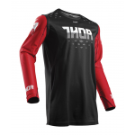 Thor Cross Shirt 2018 Prime Fit Rohl - Zwart / Rood