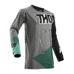 Thor Cross Shirt 2018 Pulse Geotec - Jeugd - Zwart / Teal