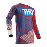 Thor Cross Shirt 2018 Pulse Geotec - Rood / Blauw