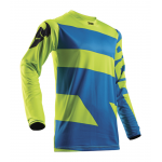 Thor Cross Shirt 2018 Pulse Level - Jeugd - Electric Blauw / Lime