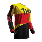 Thor Cross Shirt 2018 Pulse Taper - Zwart / Geel / Rood