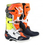 Alpinestars Crosslaarzen Tech 10  LE Nations19 - Blauw/Oranje/Fluo geel